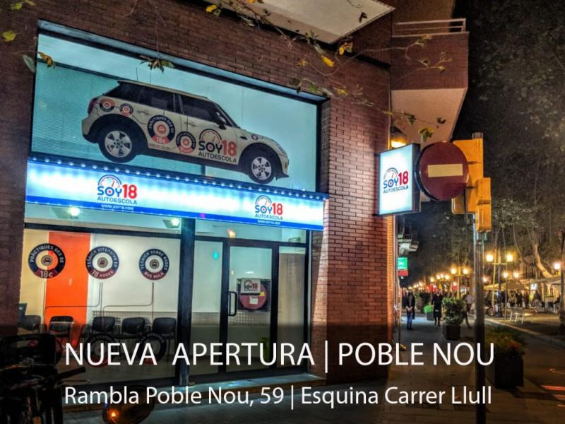 Autoescuela SOY18 abre en Poble Nou