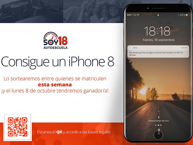¡Llévate un Iphone 8!
